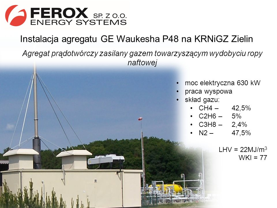 Instalacja agregatu GE Waukesha P48 na KRNiGZ Zielin