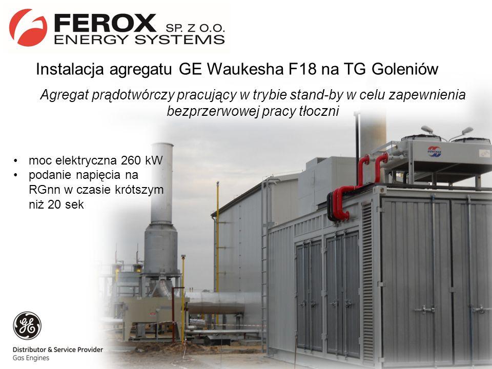 Instalacja agregatu GE Waukesha F18 na TG Goleniów
