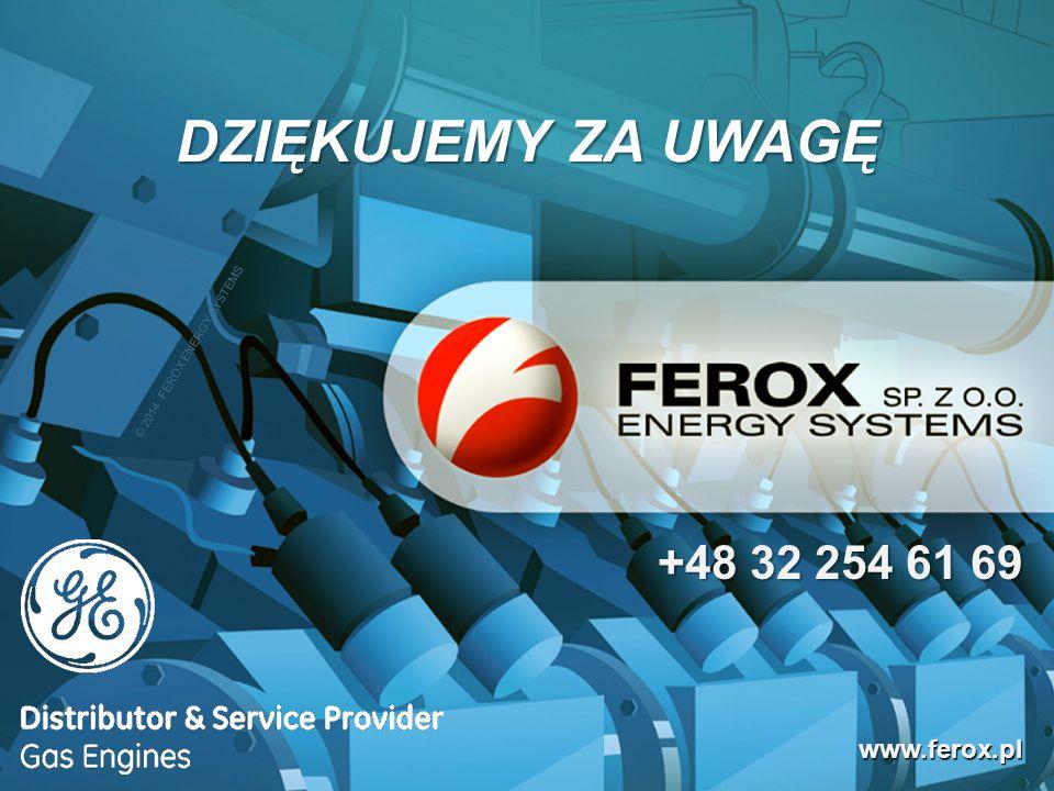 DZIĘKUJEMY ZA UWAGĘ +48 32 254 61 69 www.ferox.pl