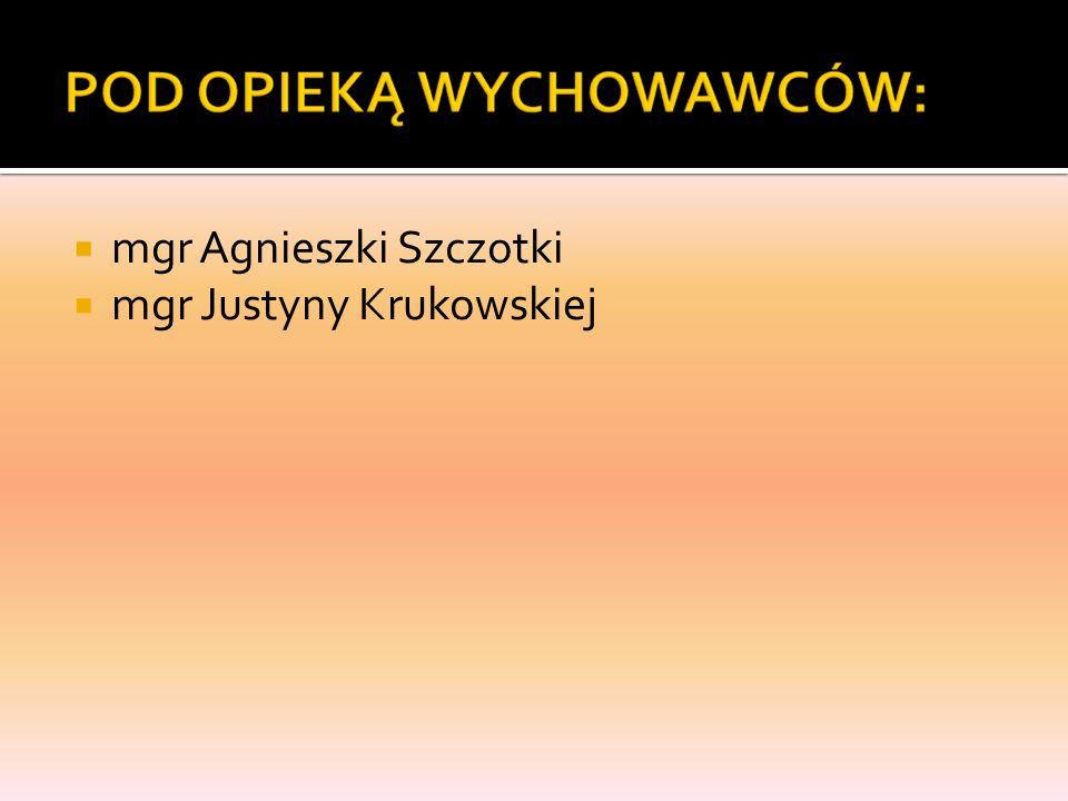 mgr Agnieszki Szczotki