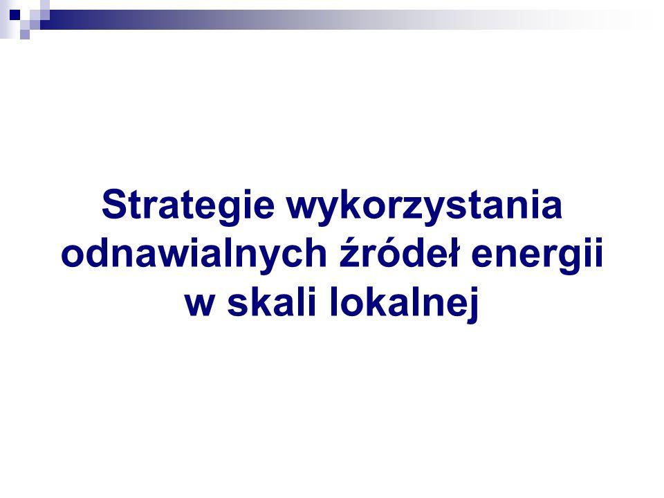 Strategie wykorzystania odnawialnych źródeł energii w skali lokalnej