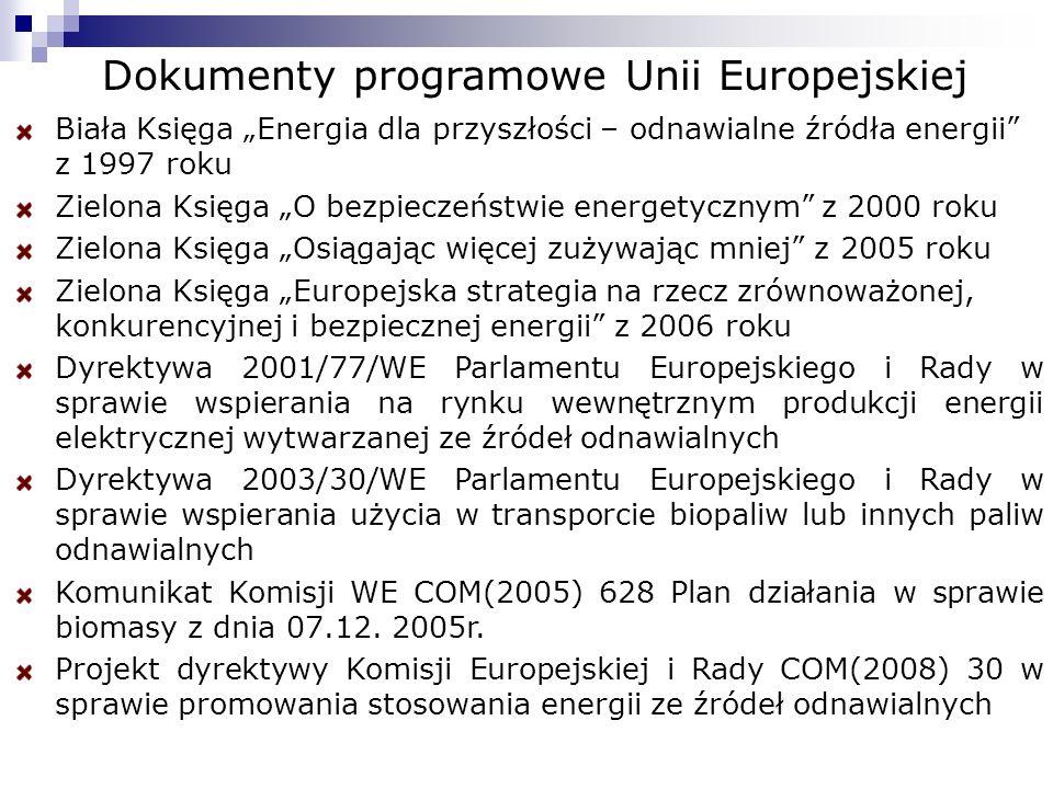 Dokumenty programowe Unii Europejskiej