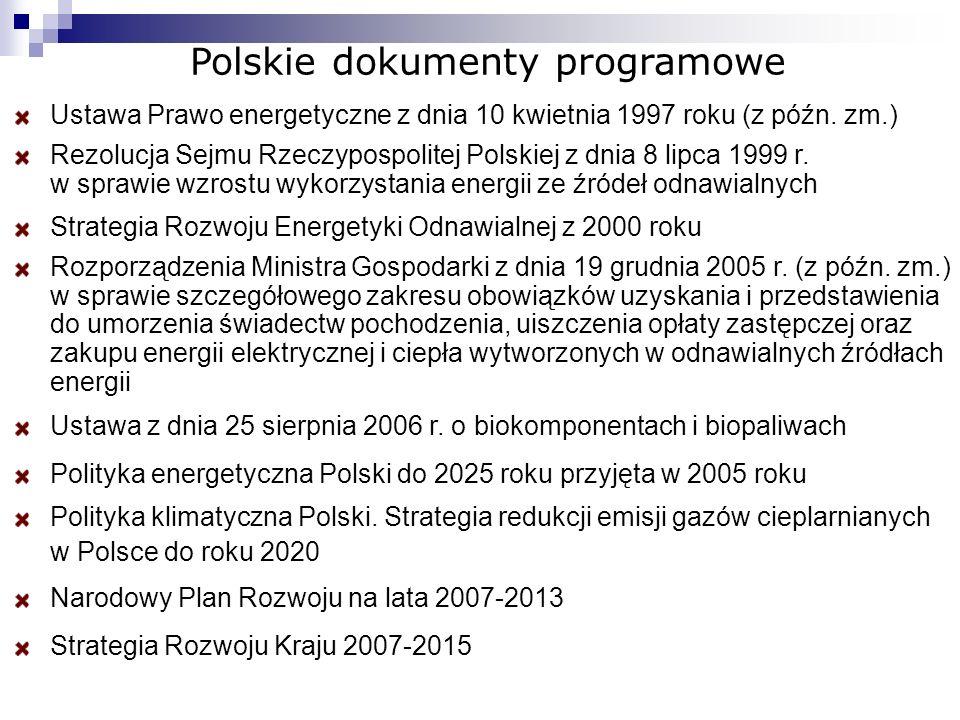 Polskie dokumenty programowe