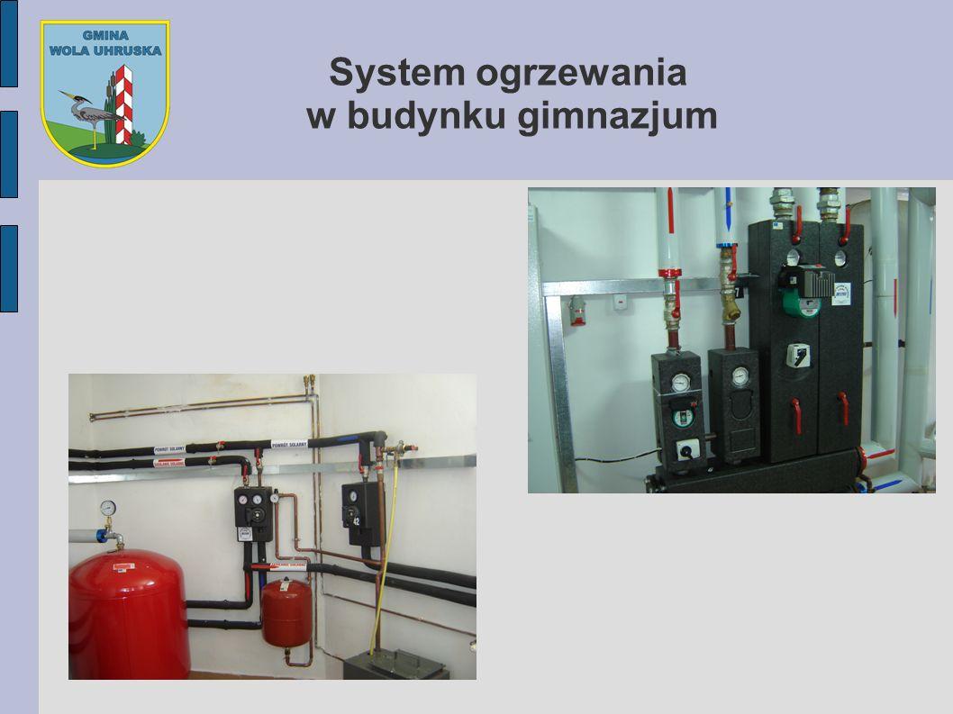 System ogrzewania w budynku gimnazjum