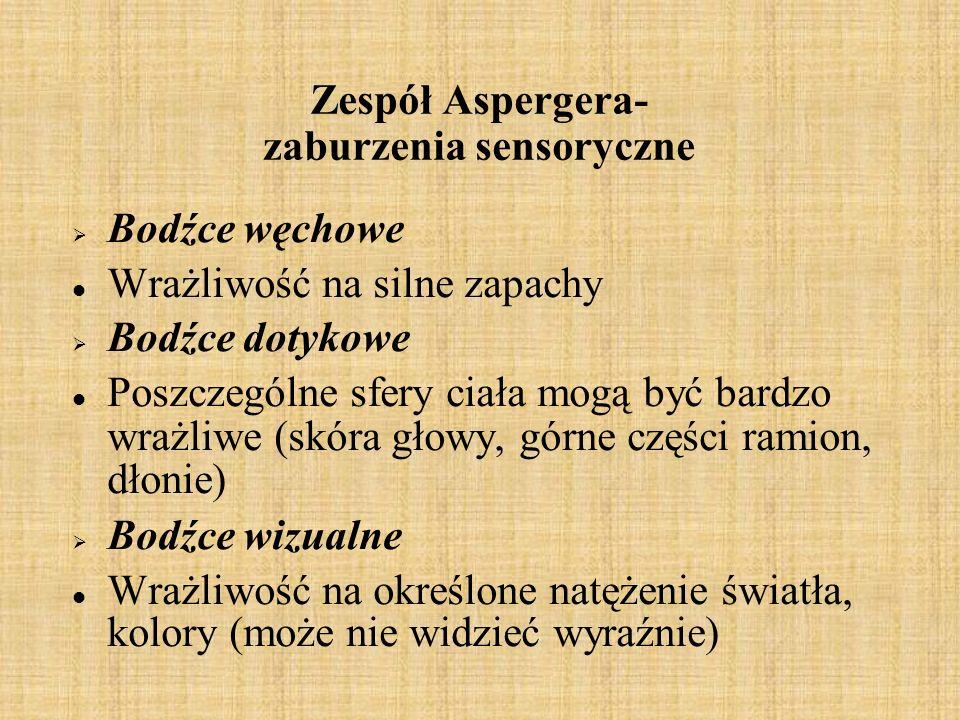Zespół Aspergera- zaburzenia sensoryczne
