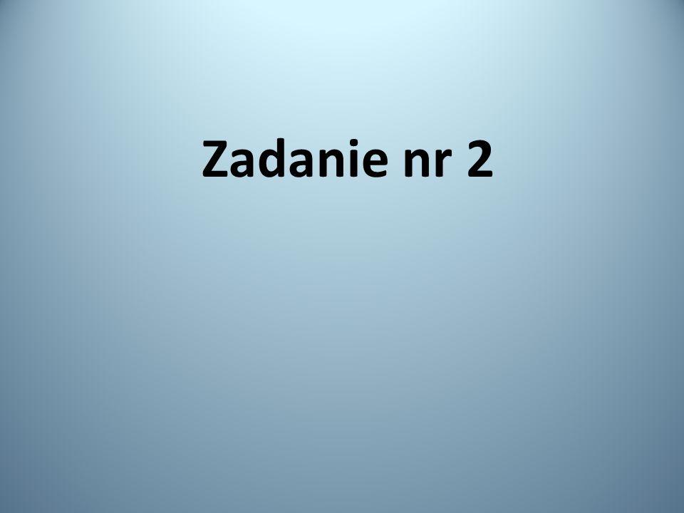 Zadanie nr 2