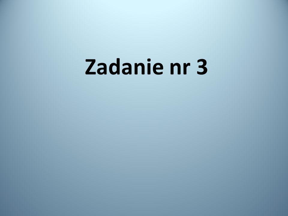 Zadanie nr 3
