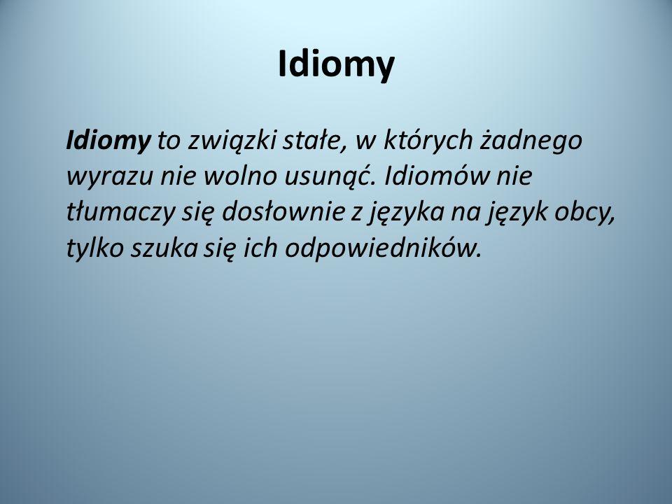 Idiomy