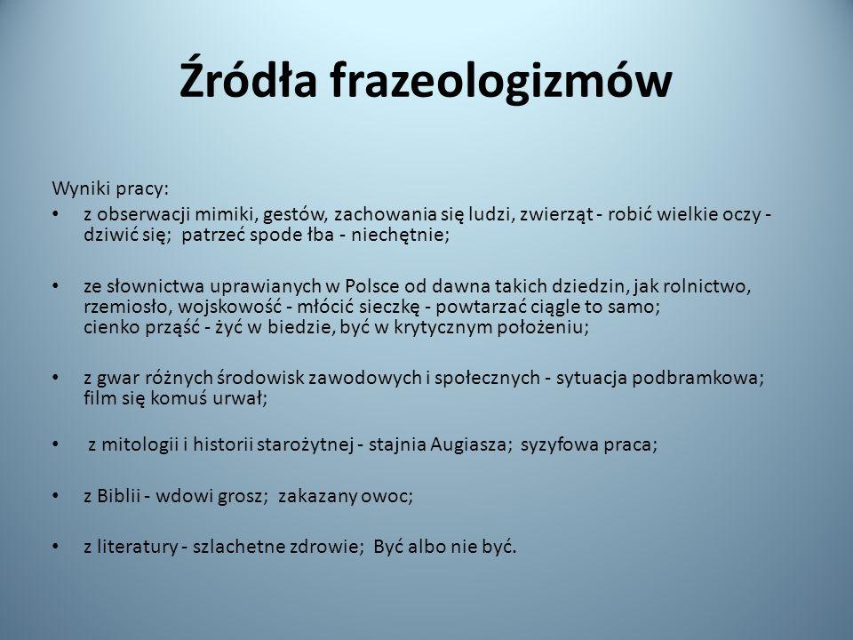 Źródła frazeologizmów