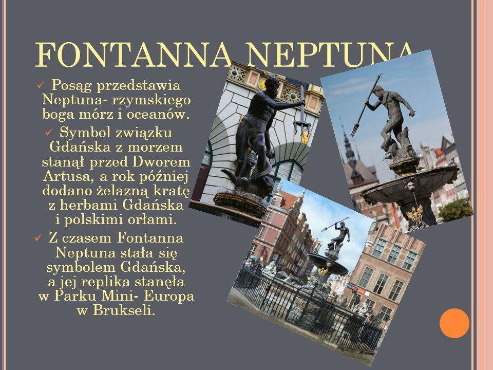 Posąg przedstawia Neptuna- rzymskiego boga mórz i oceanów.