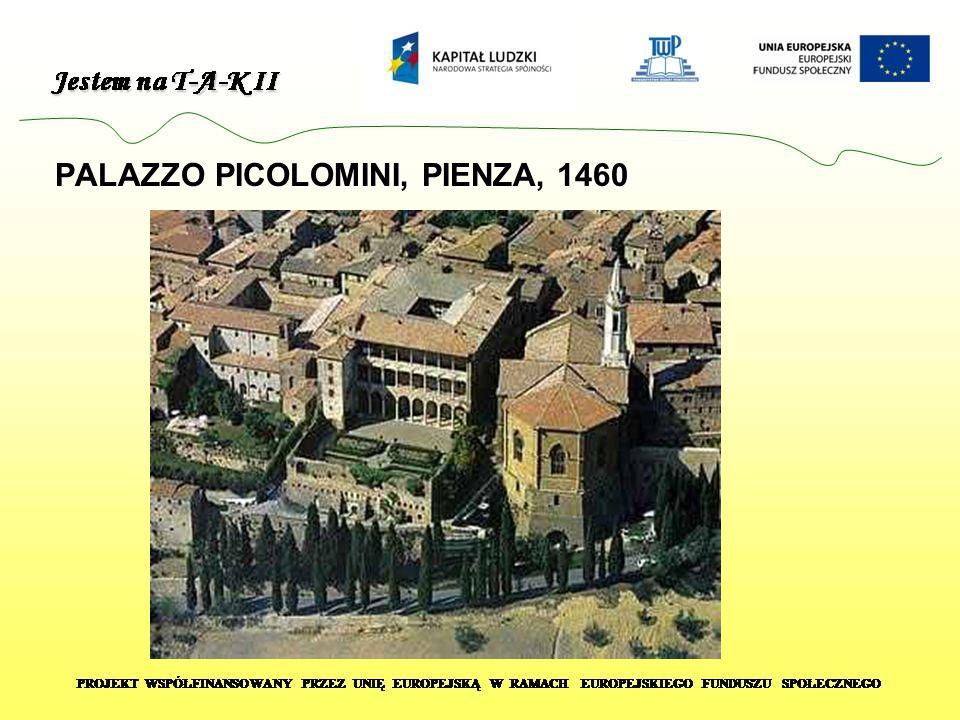 PALAZZO PICOLOMINI, PIENZA, 1460