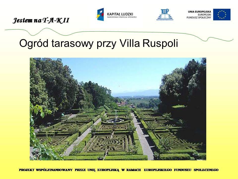 Ogród tarasowy przy Villa Ruspoli