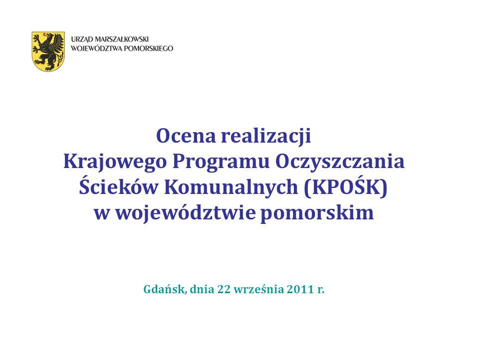 Krajowego Programu Oczyszczania Ścieków Komunalnych (KPOŚK)