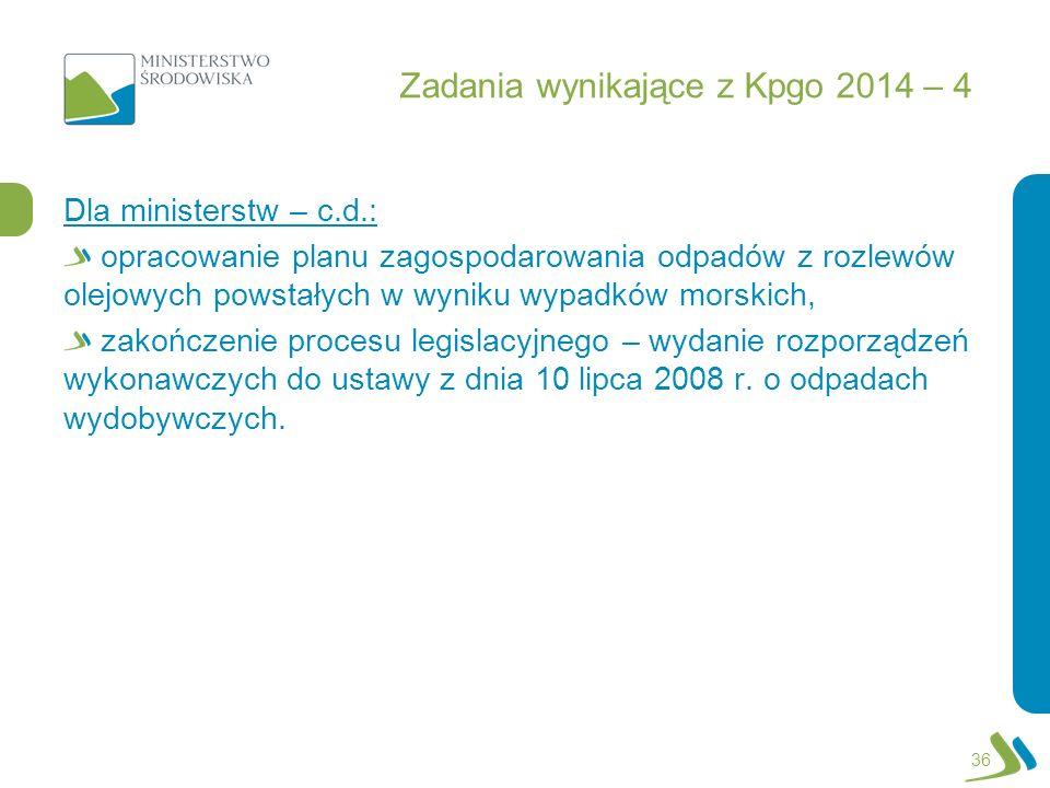 Zadania wynikające z Kpgo 2014 – 4