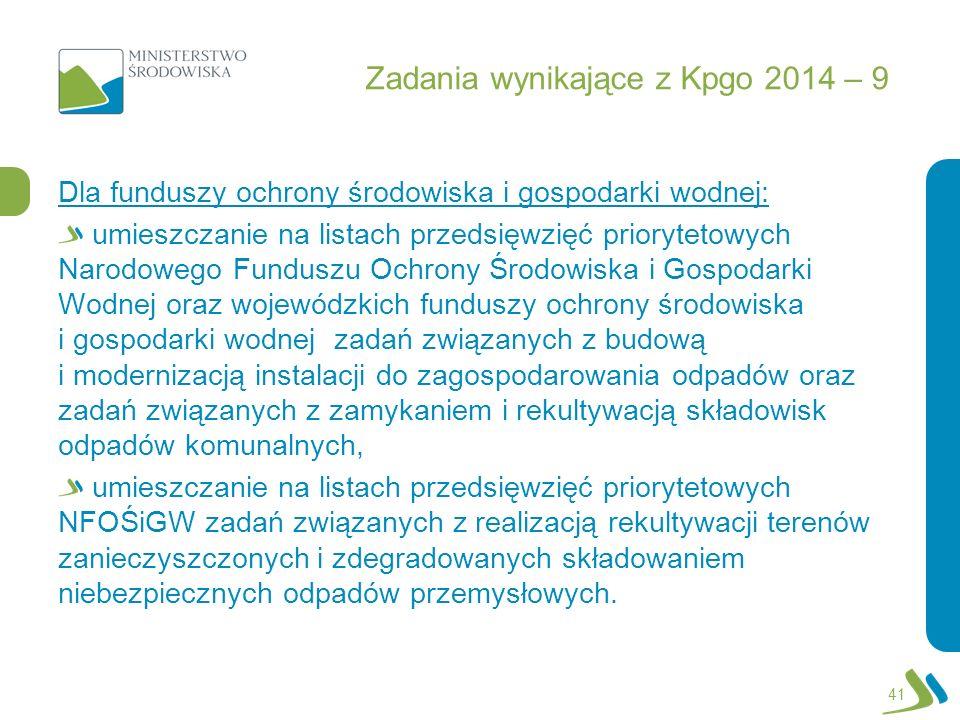 Zadania wynikające z Kpgo 2014 – 9