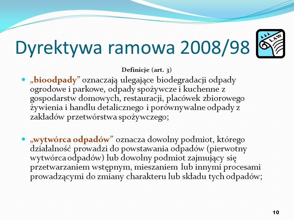 Dyrektywa ramowa 2008/98 Definicje (art. 3)