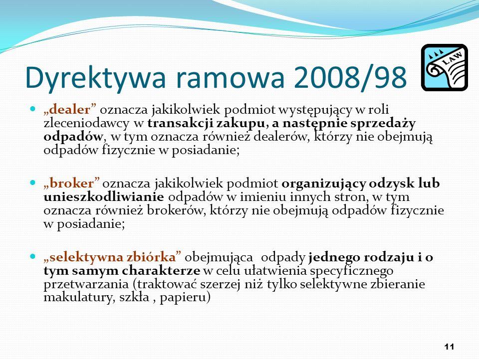 Dyrektywa ramowa 2008/98