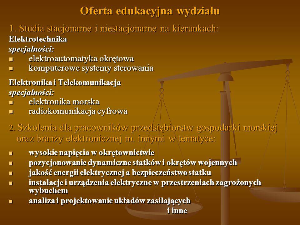 Oferta edukacyjna wydziału