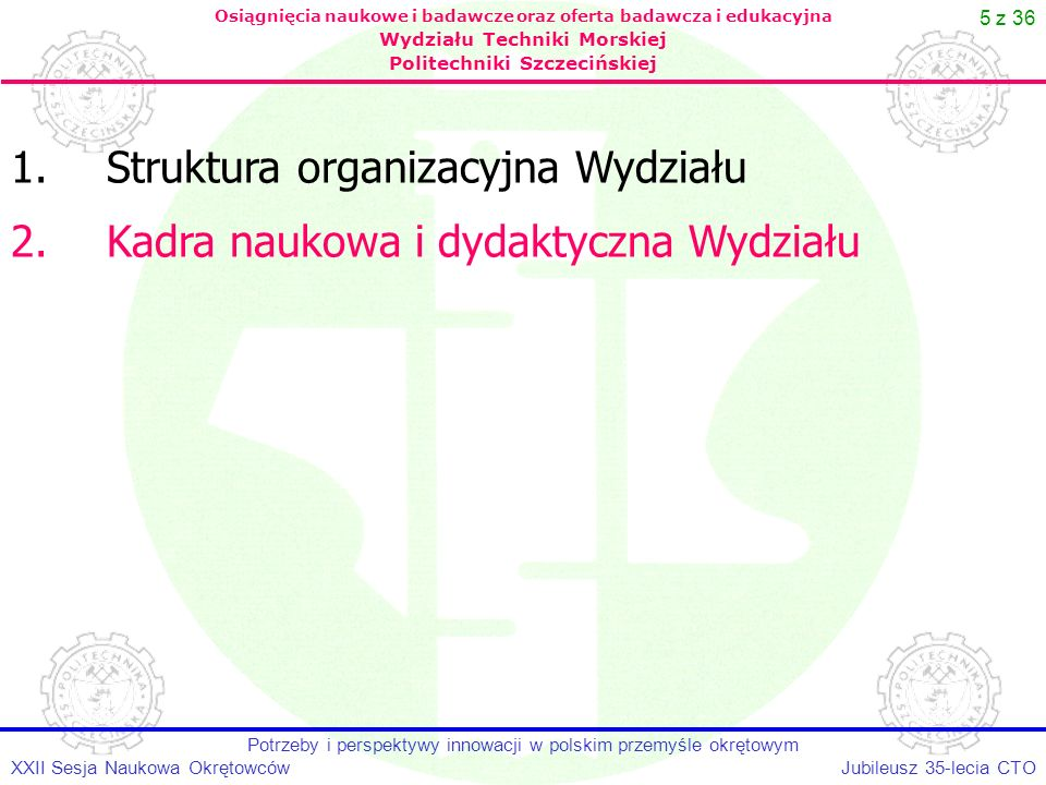 Potrzeby i perspektywy innowacji w polskim przemyśle okrętowym