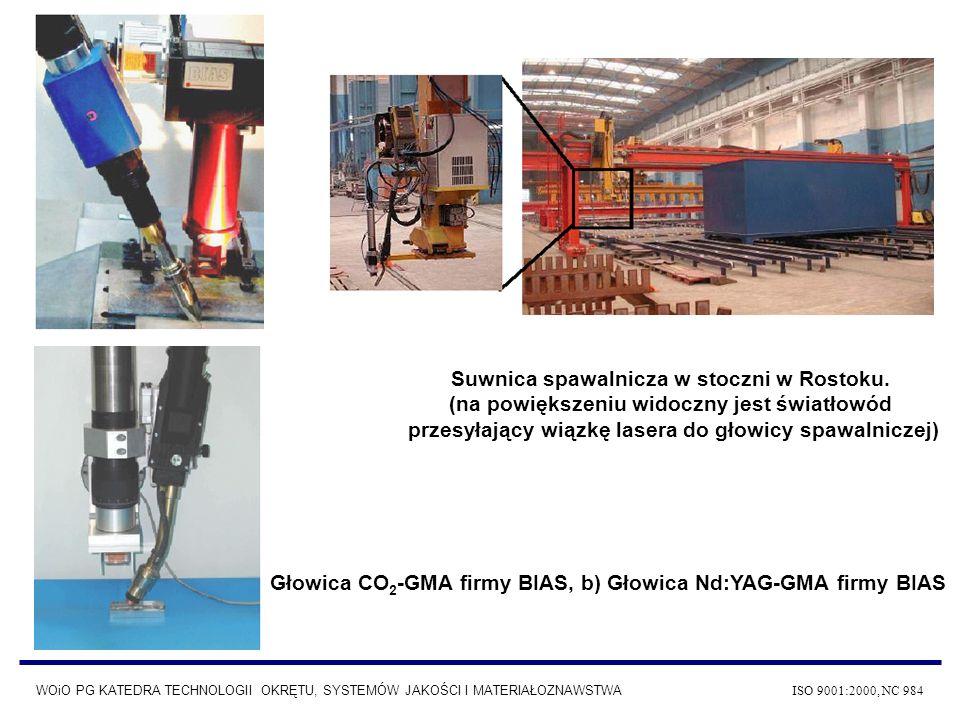 Głowica CO2-GMA firmy BIAS, b) Głowica Nd:YAG-GMA firmy BIAS