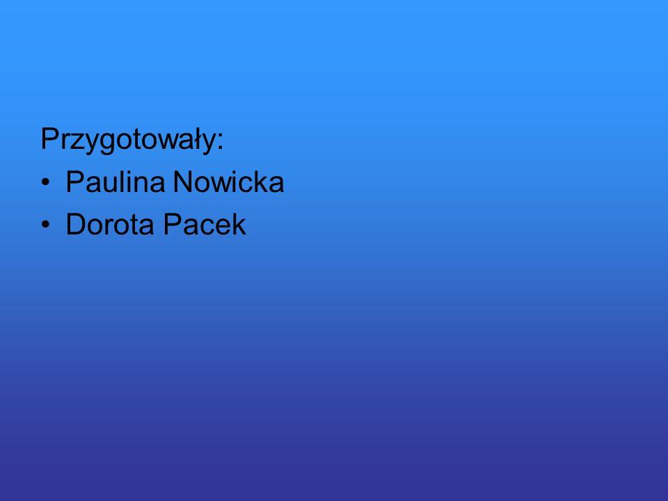 Przygotowały: Paulina Nowicka Dorota Pacek