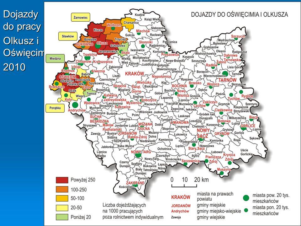 Dojazdy do pracy Olkusz i Oświęcim 2010