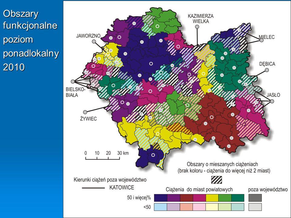 Obszary funkcjonalne poziom ponadlokalny 2010