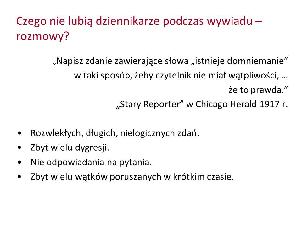 Czego nie lubią dziennikarze podczas wywiadu – rozmowy