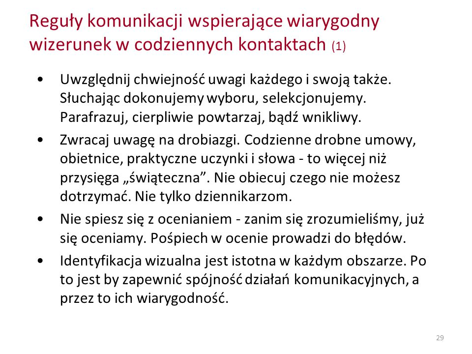 Reguły komunikacji wspierające wiarygodny wizerunek w codziennych kontaktach (1)
