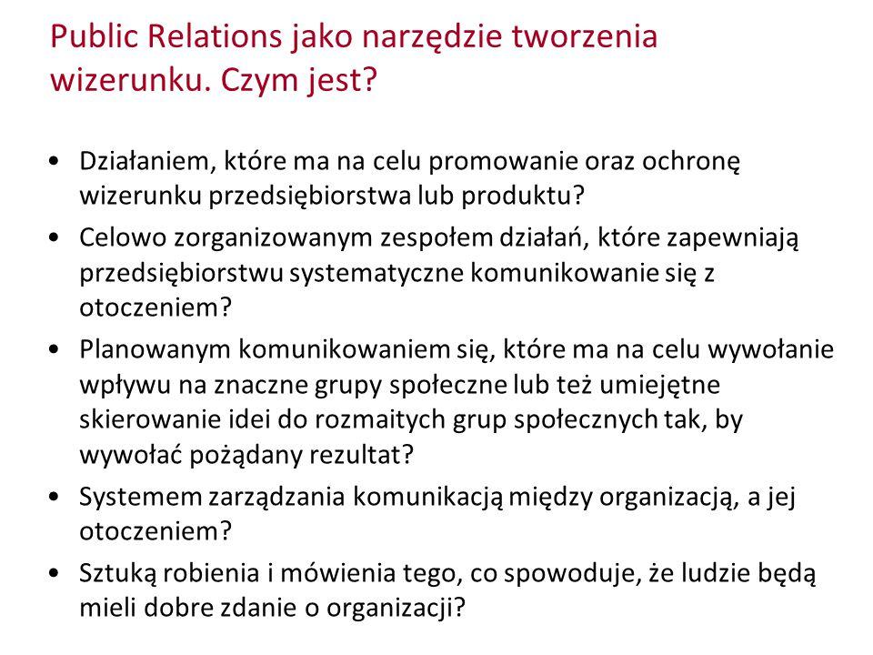 Public Relations jako narzędzie tworzenia wizerunku. Czym jest