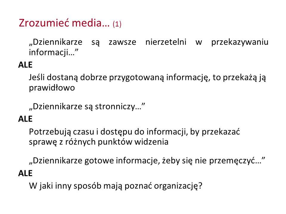 """Zrozumieć media… (1) """"Dziennikarze są zawsze nierzetelni w przekazywaniu informacji… ALE."""