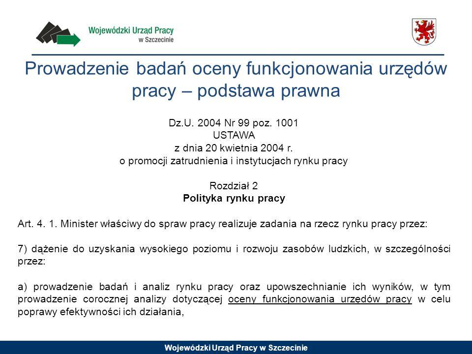 Prowadzenie badań oceny funkcjonowania urzędów pracy – podstawa prawna