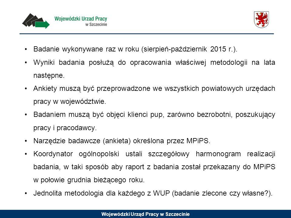 Badanie wykonywane raz w roku (sierpień-październik 2015 r.).