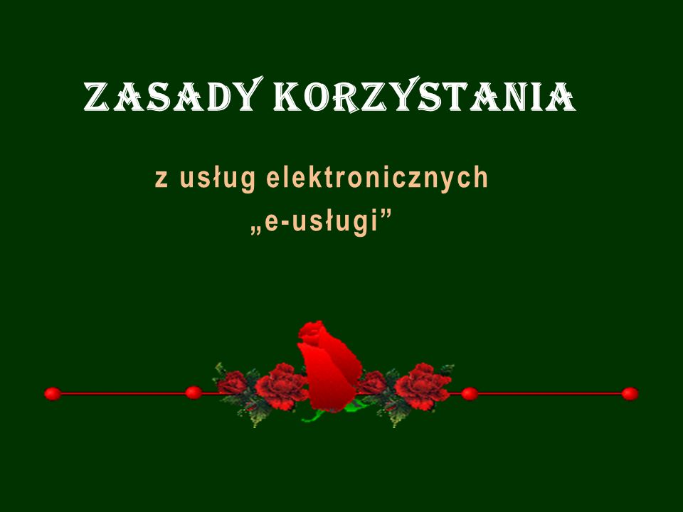 """z usług elektronicznych """"e-usługi"""