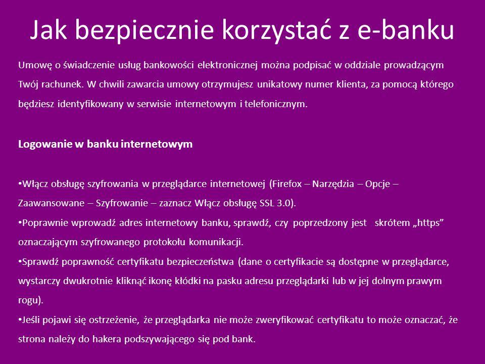 Jak bezpiecznie korzystać z e-banku