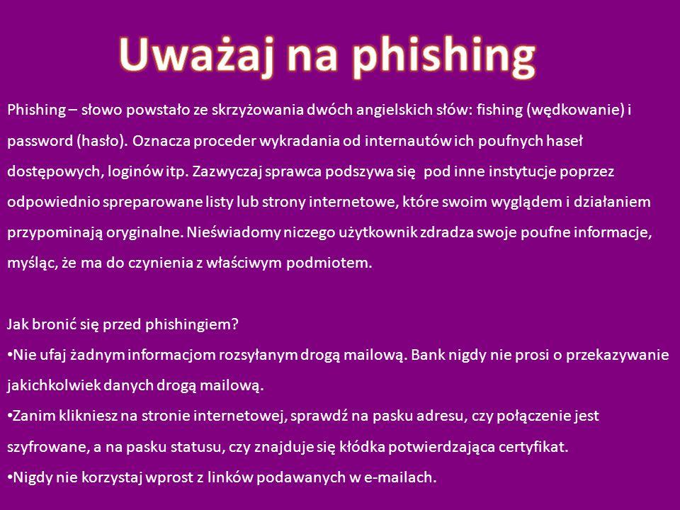 Uważaj na phishing