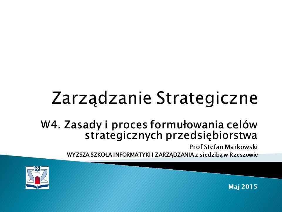 Zarządzanie Strategiczne