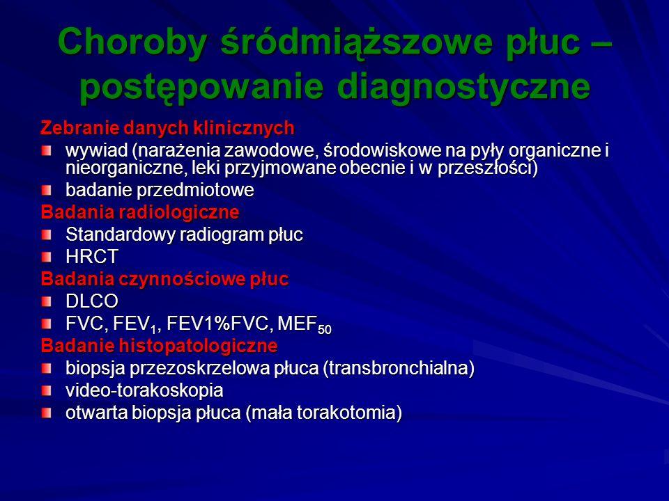 Choroby śródmiąższowe płuc – postępowanie diagnostyczne