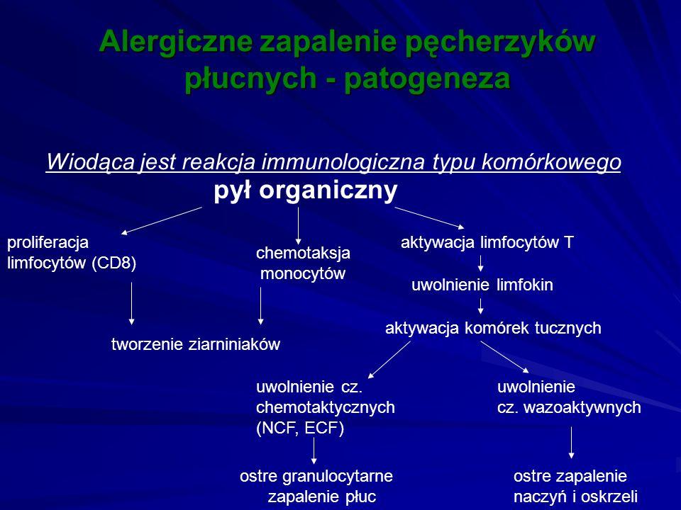 Alergiczne zapalenie pęcherzyków płucnych - patogeneza