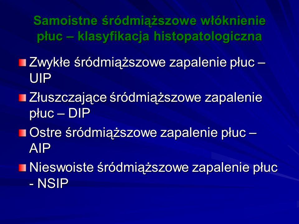 Zwykłe śródmiąższowe zapalenie płuc – UIP