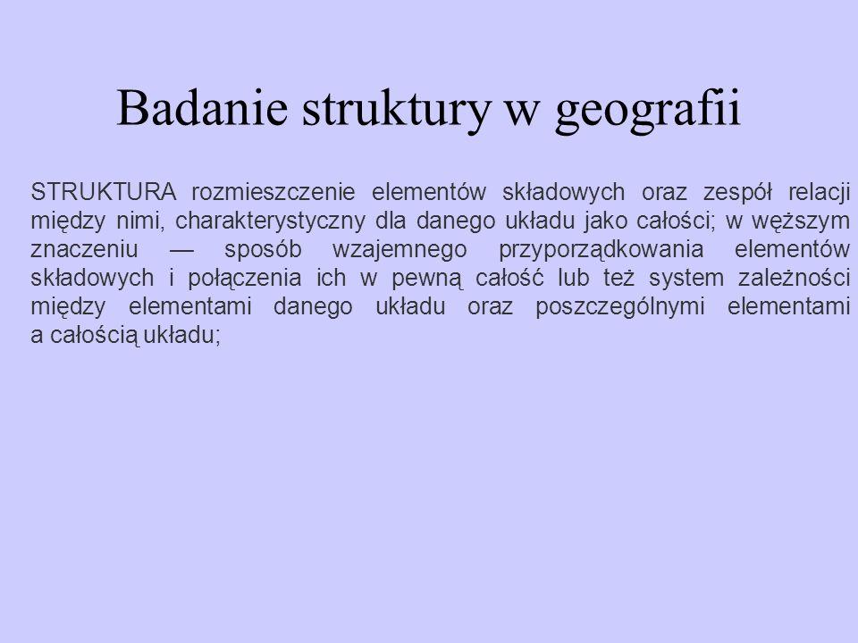 Badanie struktury w geografii