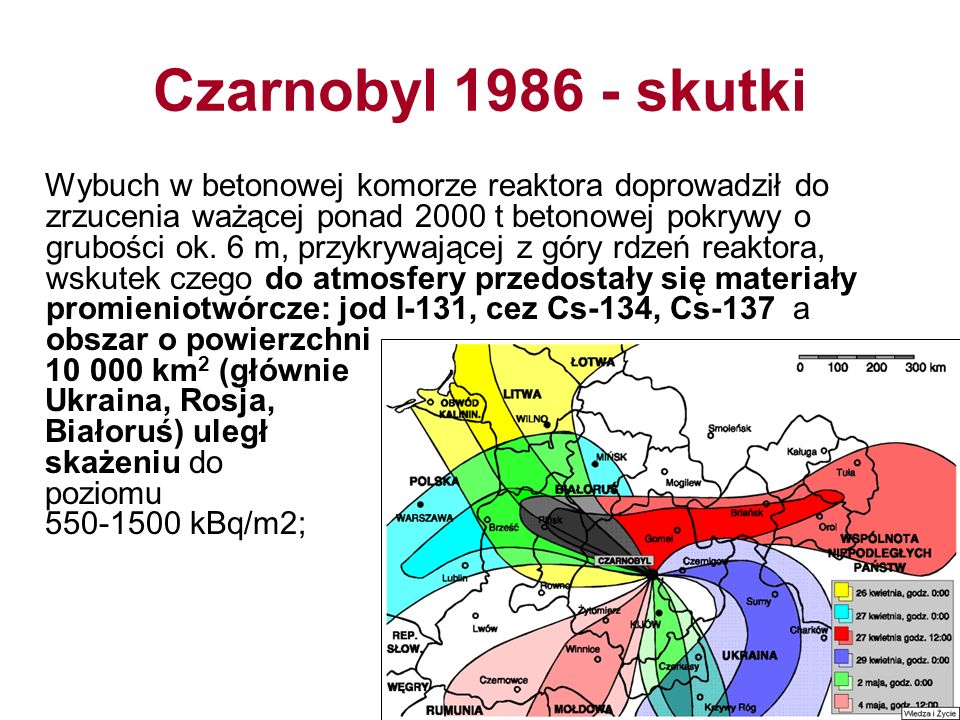 Czarnobyl 1986 - skutki
