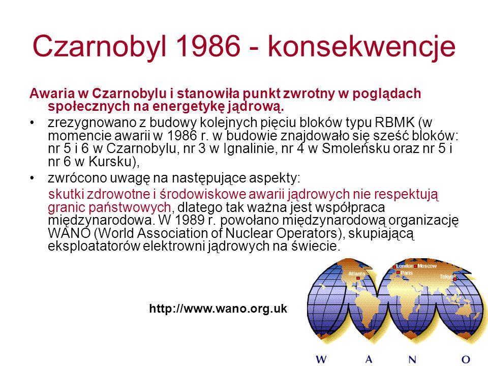 Czarnobyl 1986 - konsekwencje