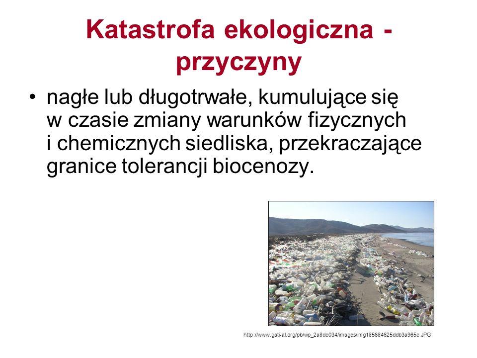 Katastrofa ekologiczna - przyczyny