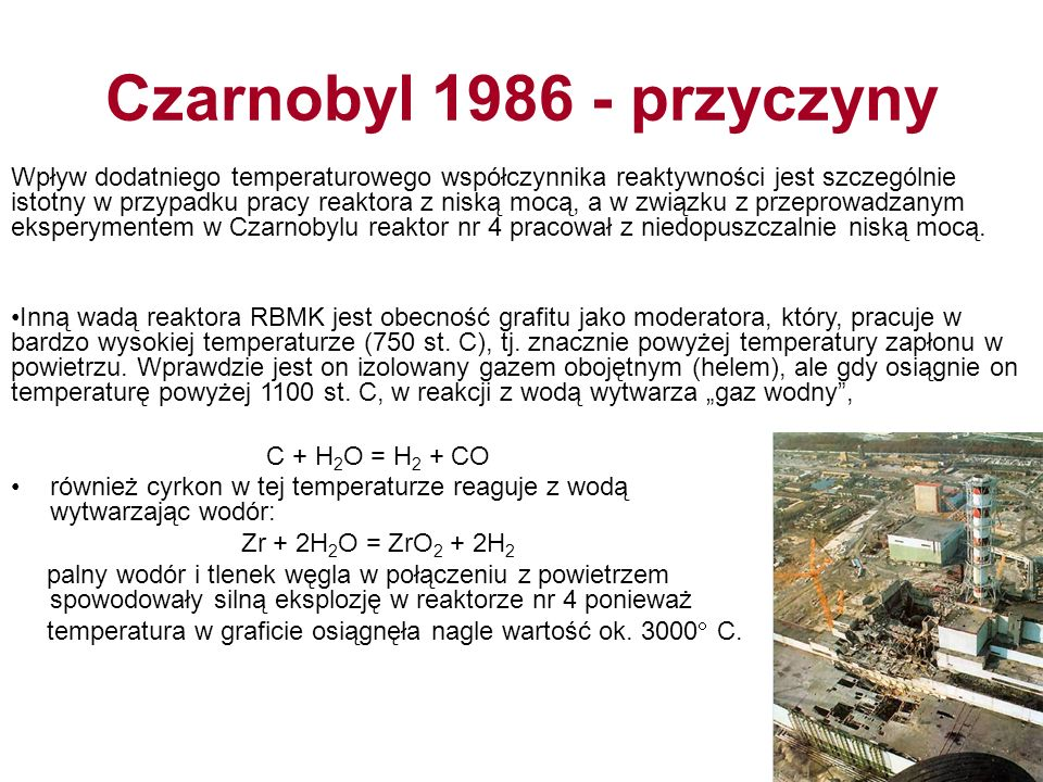Czarnobyl 1986 - przyczyny