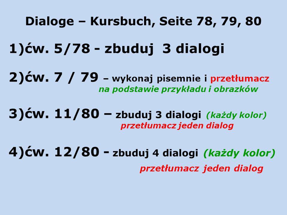 Dialoge – Kursbuch, Seite 78, 79, 80