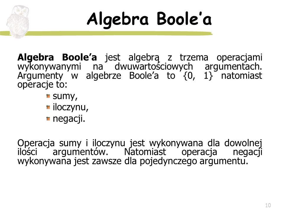 Algebra Boole'a