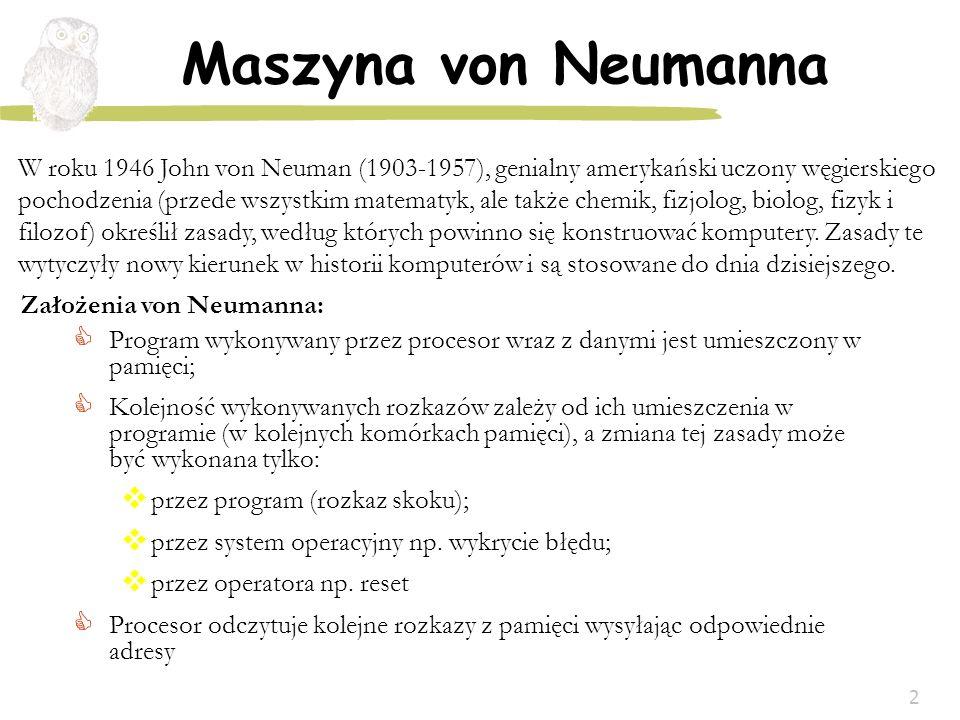Założenia von Neumanna: