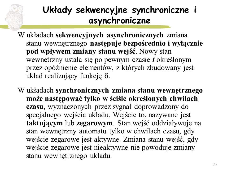 Układy sekwencyjne synchroniczne i asynchroniczne