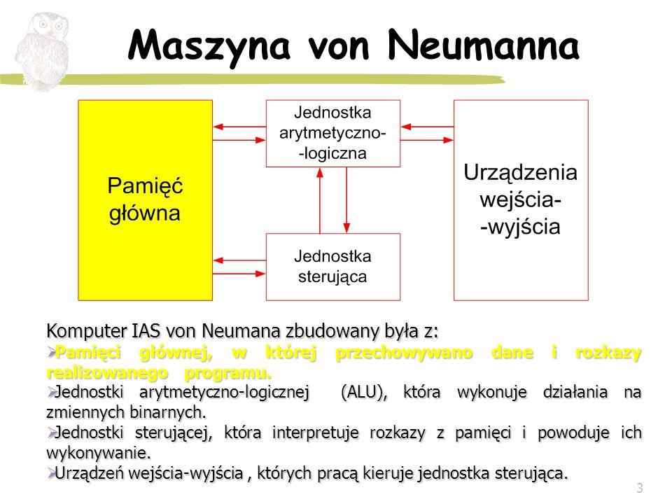 Maszyna von Neumanna Komputer IAS von Neumana zbudowany była z: